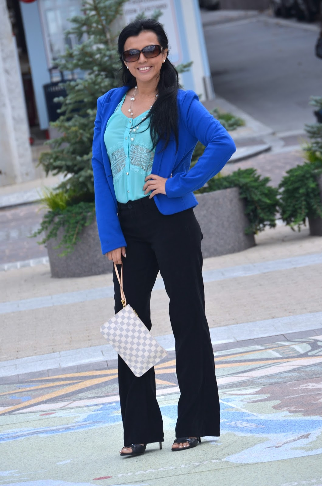 Blue And Green Outfit