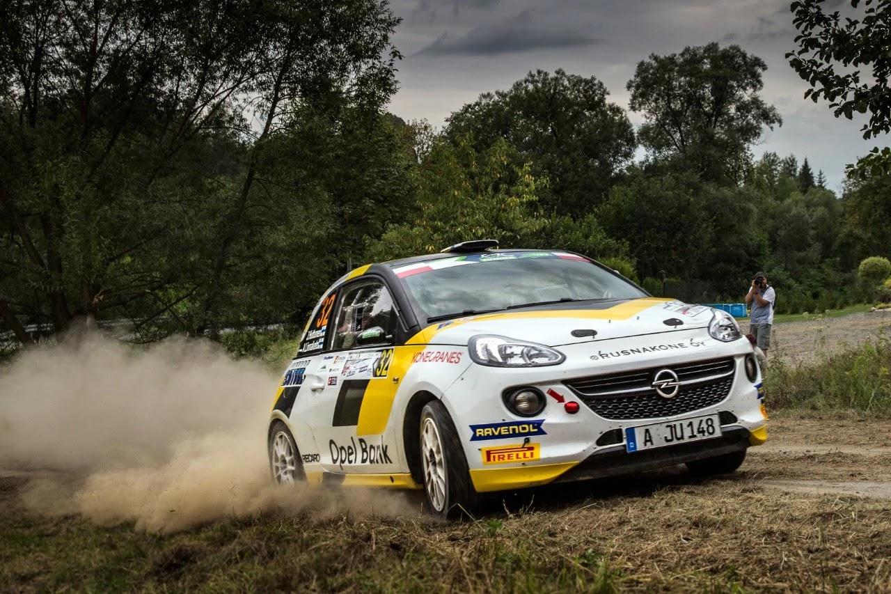 Η Opel κυρίαρχη στον αγώνα του FIA ERC Junior στα Καρπάθια Όρη με νικητή τον επίσημο οδηγό της Opel Jari Huttunen με το εργοστασιακό ADAM R2