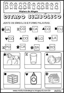 Ditado simbólico para alfabetização