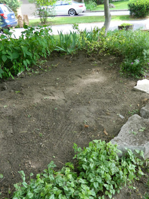 St. Andrews York Mills front garden renovation before Paul Jung Gardening Services Toronto