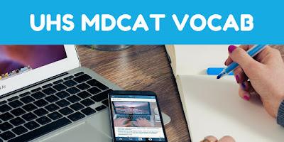 MDCAT vocabulary