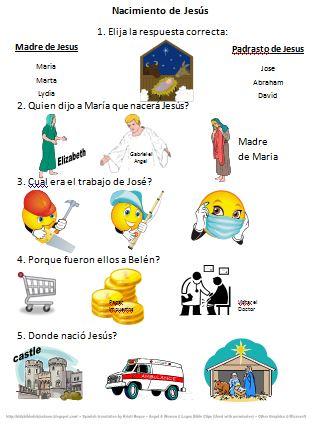 Bible Fun For Kids: Life of Jesus Worksheets in Spanish