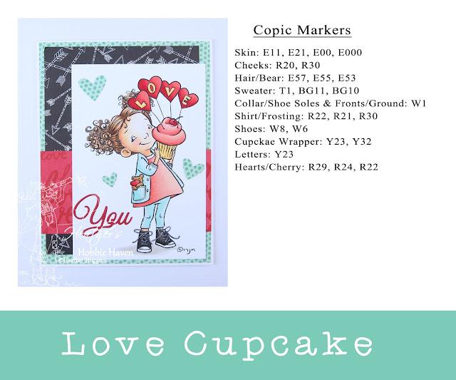 Heather's Hobbie Haven - Love Cupcake Card