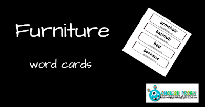 Furniture words cards