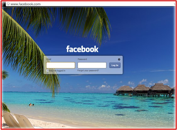 facebook login page screen switch user