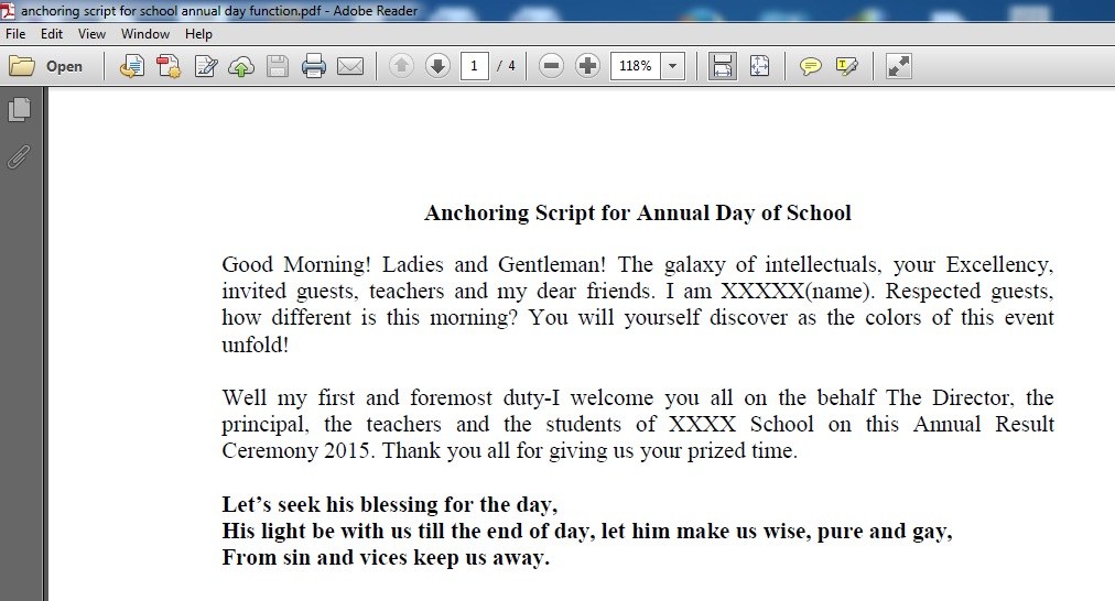 Anchoring script for student orientation in, Research paper
