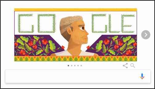 Google Creates Doodle on Baba Amte