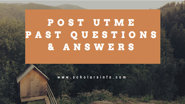 Olabisi Onabanjo University, Ago Iwoye Post UTME Past Exams Questions And Answers | Download Free OOU Aptitude Test Past Questions and Answers - Cut off Mark & Post UME Screening Date