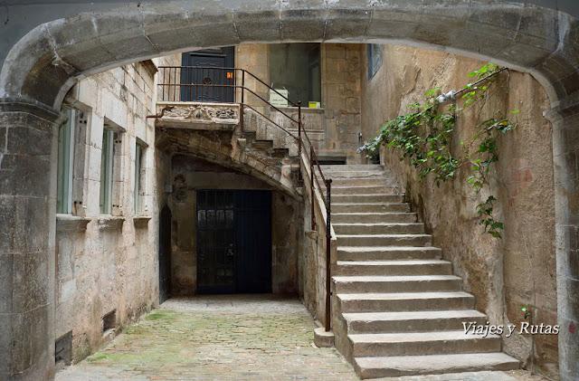 Detalle de patio del Carrer de la força de Girona
