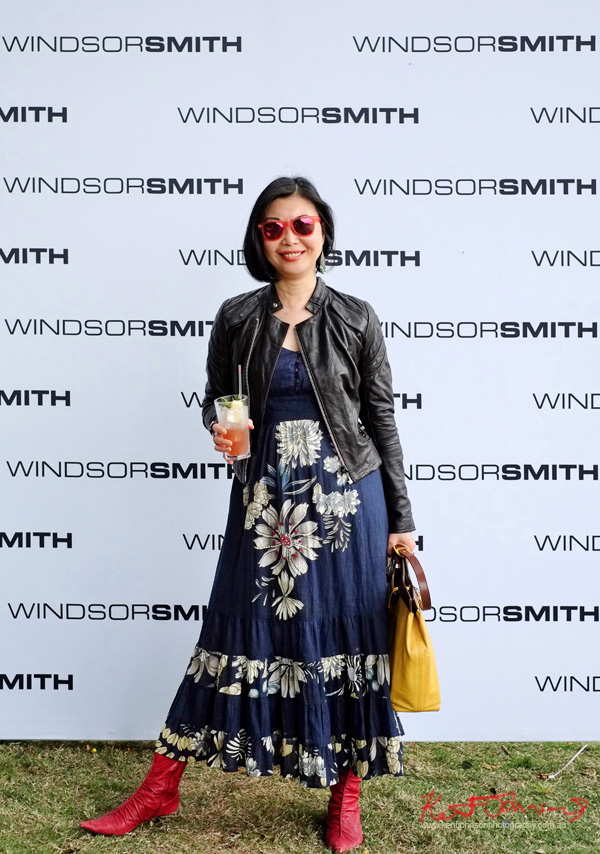 vivalaViv blogger Vivienne Shui parties at VIP Marquee, Windsor Smith Celebrates 70 years at #HarbourLife Sydney 2016. Photographed by Kent Johnson for Street Fashion Sydney.