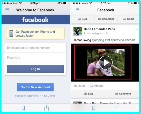 Download Facebook Videos iPhone