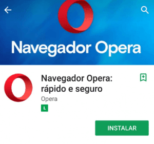 Instalar o navegador Opera mobile