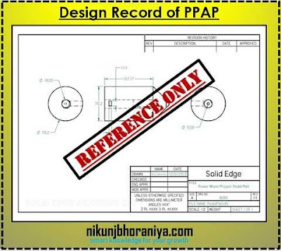Design Records in PPAP