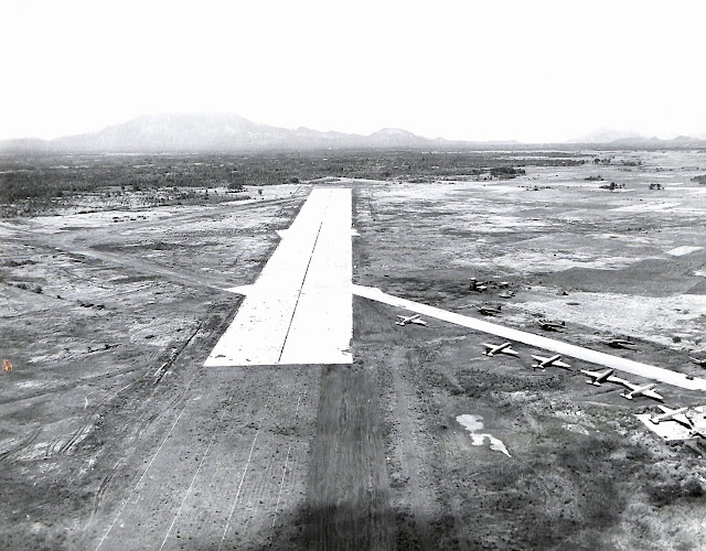 Lipa Airfield after it had been reclaimed by American forces in 1945.  Image source:  United States Archives.