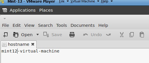 linux mint change machine name