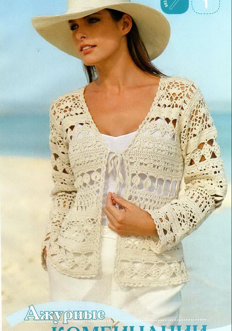 TEJER GANCHILLO CROCHET: Patrones de chaquetas y boleros a crochet