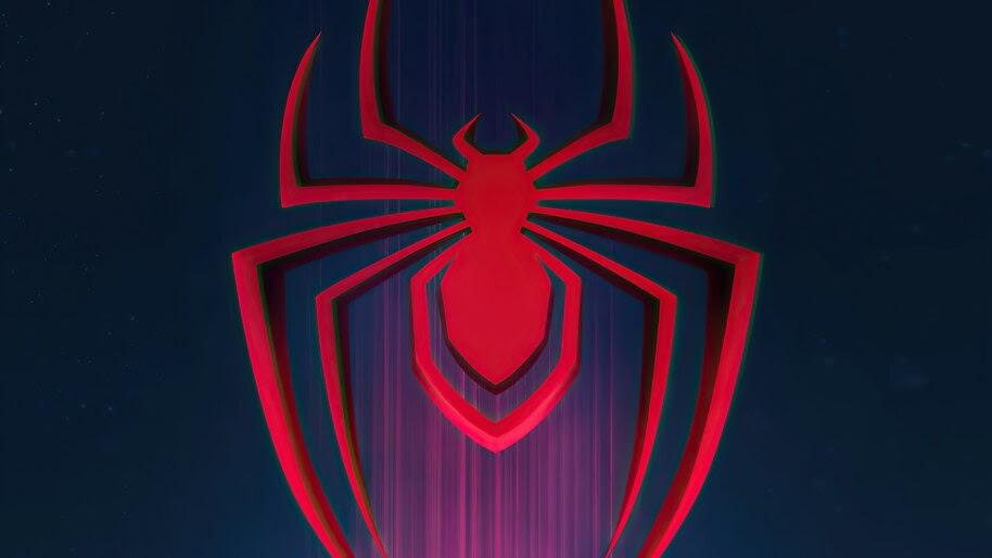 Miles Morales, Logo, Spider-Man Into the Spider-Verse, 4K, #3.2300