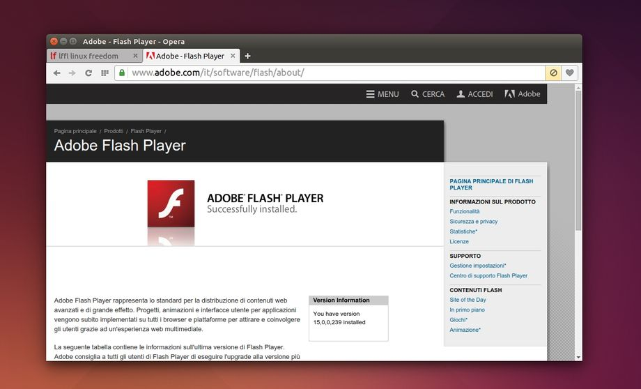 Flash Player in Opera