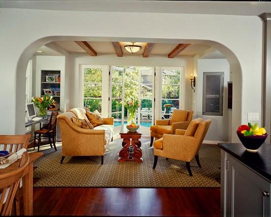 60 model ruang tamu terbuka minimalis modern