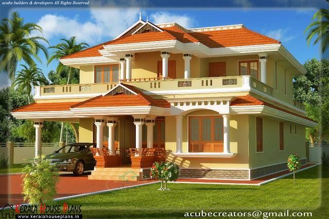kerala style 4 bedroom home plan