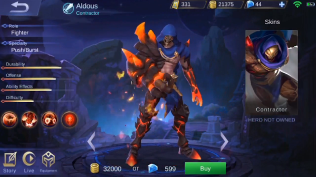 build item Aldous paling gg mobile legends