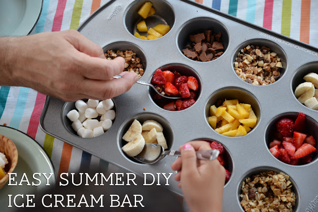 easy summer diy ice cream bar
