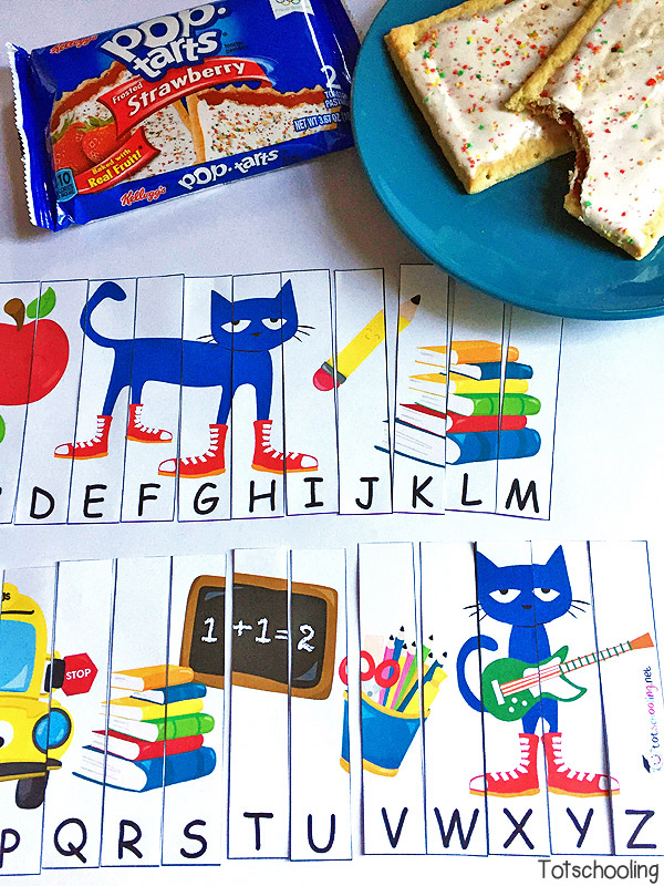 Back to School ABC Puzzle with Pete the Cat  Totschooling