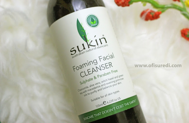 Sukin Foaming Facial Cleanser, natural face cleanser