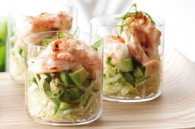 Prawn cocktails with smoky mayonnaise recipe