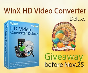latest tech tips: Thanksgiving Giveaway: Free Get WinX HD