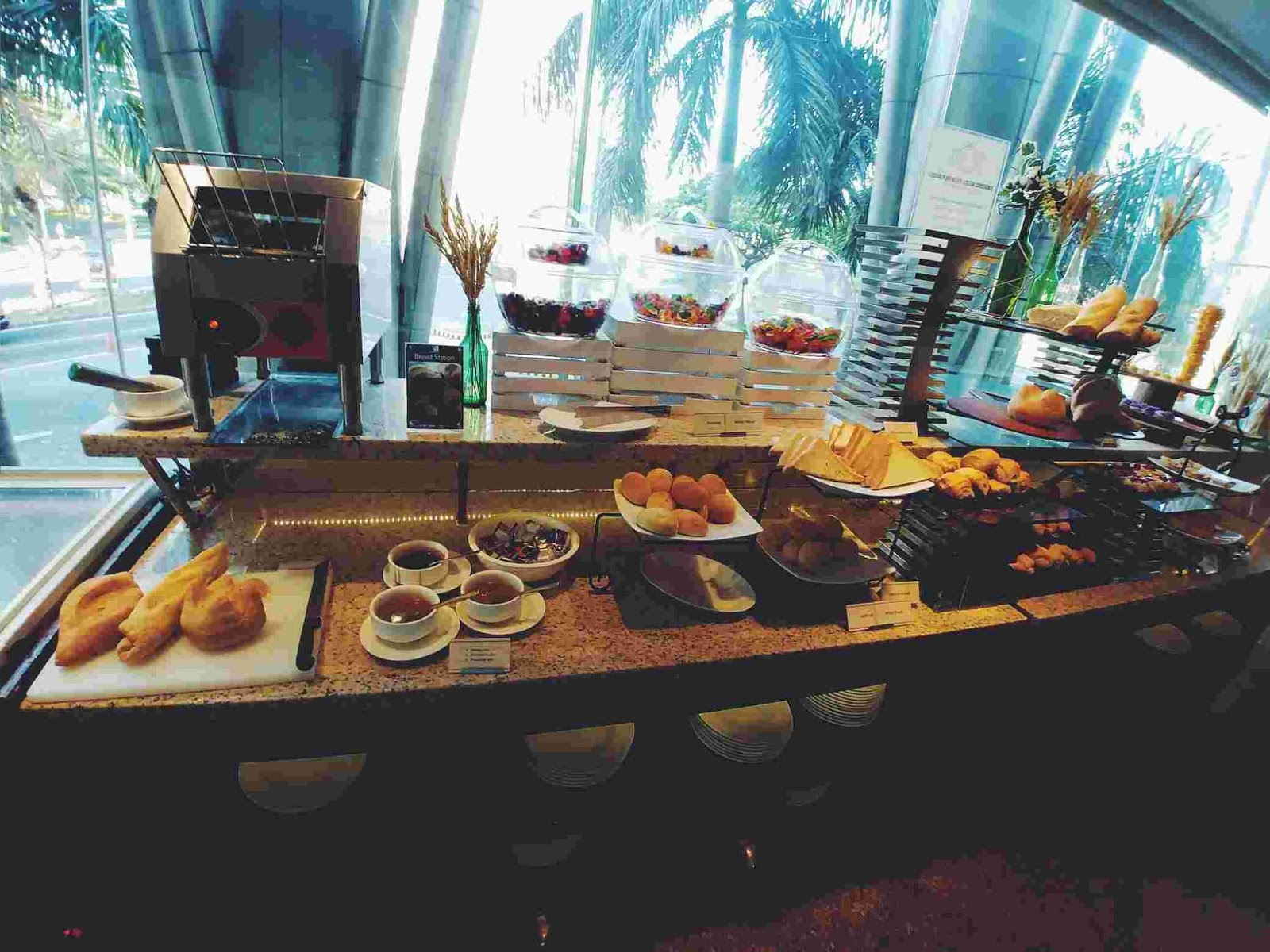 bread station at Acaci Cafe in Acacia Hotel