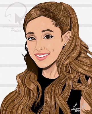 Desenho da Ariana Grande feito no Paint