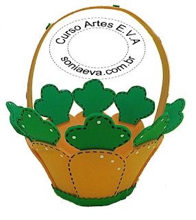 DIY cesta cenoura de E.V.A