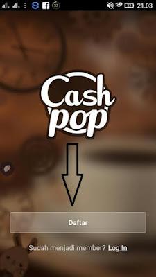Cara daftar di aplikasi Cashpop