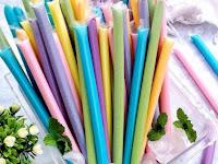 Resep es pensil pelangi lembut untuk jualan