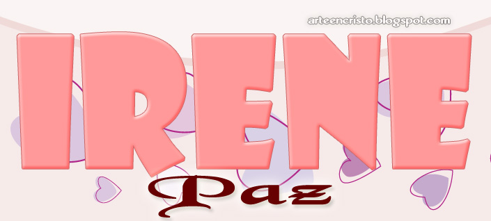 Postales Cristianas Arte En Cristo Nombre Irene