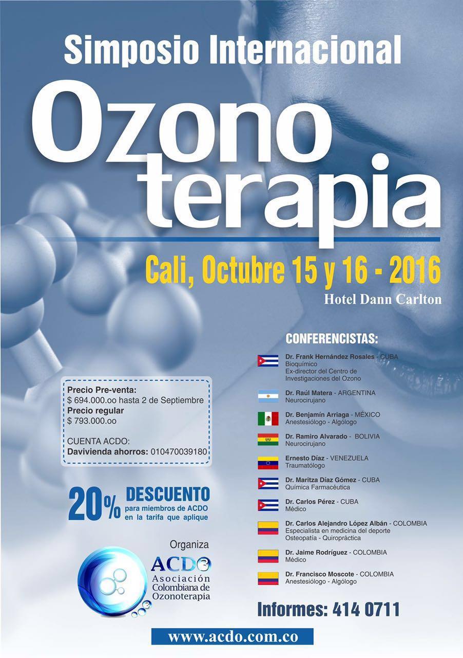 Simposio internacional Ozono terapia cali colombia octubre 2016