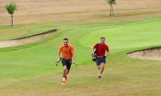 Last years British Speedgolf Pairs Champions George Boxall and Tom Roberts. Photo by British Speedgolf