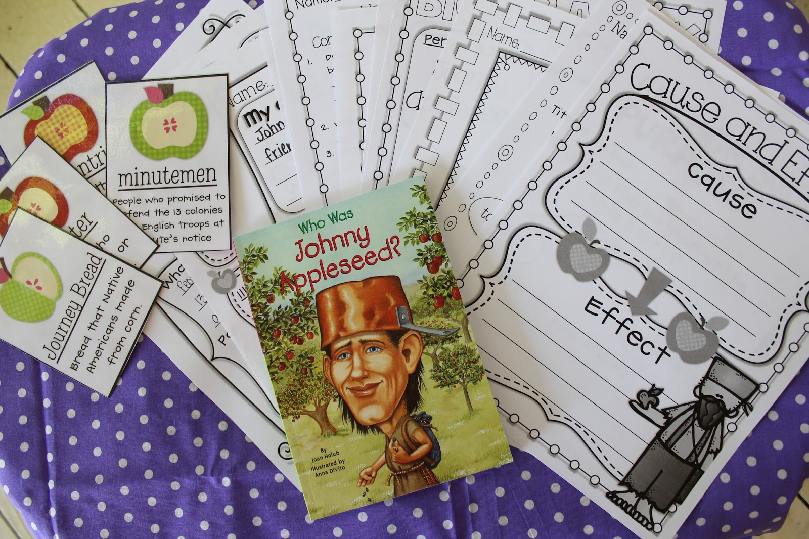 Life In First Grade Johnny Appleseed Guided Reading Activites