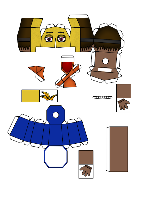 Molegulas Paper: Normal Nightmare Papercraft