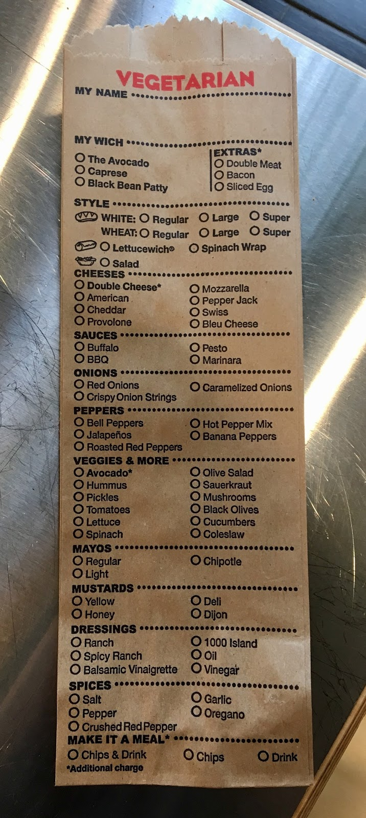 sacramento vegan which wich
