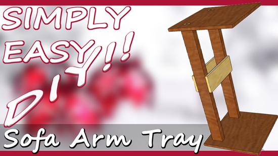 polyurethane sofa repair noida extension simply easy diy: diy armrest tray table