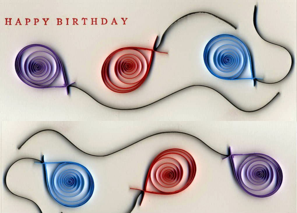 Color Paper Roll Birthday Greeting Card