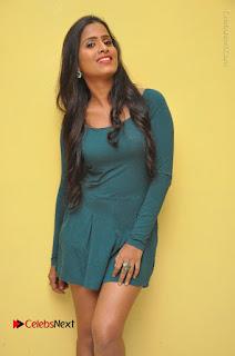Telugu Actress Prasanthi Stills in Green Short Dress at Swachh Hyderabad Cricket Press Meet  0047.JPG