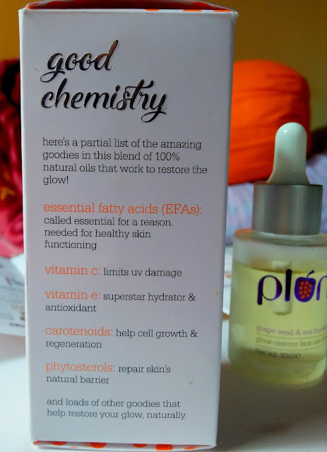 Plum Grape Seed & Sea Buckthorn Glow Restore Face Oils Blend