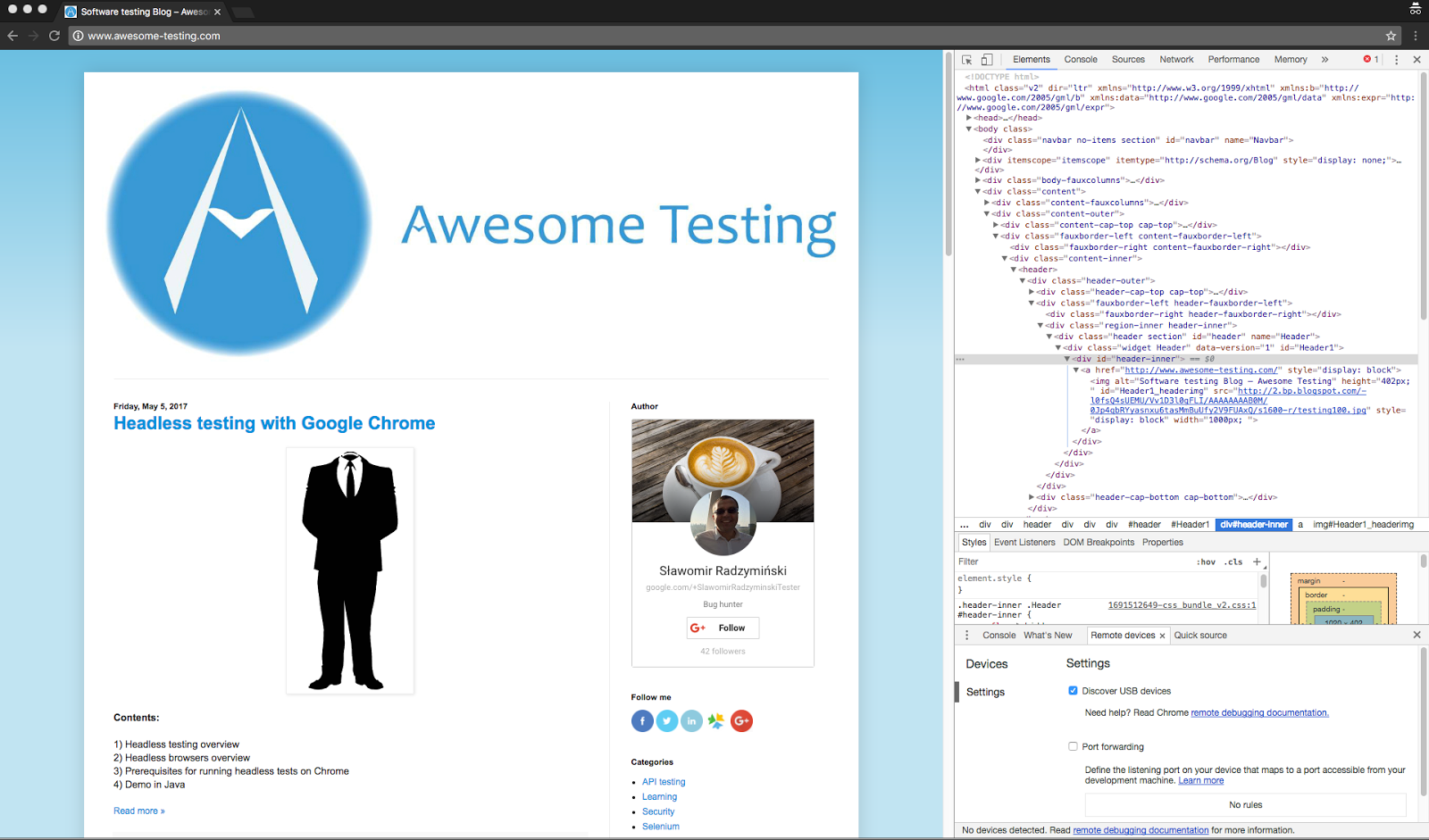 Software testing Blog – Awesome Testing: How to find & test