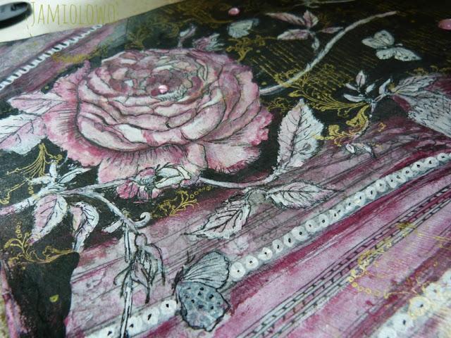 róża w stylu barokowym