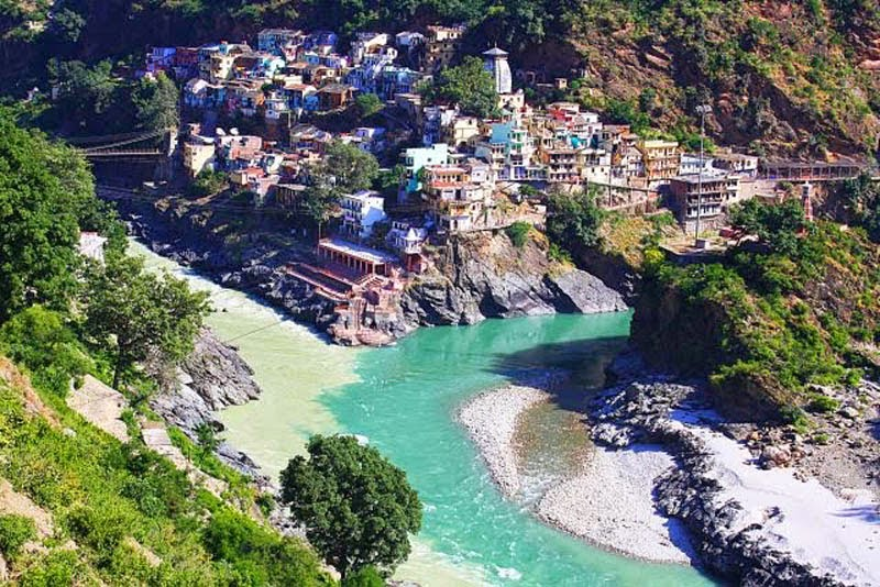 Confluence of the Alaknanda and Bhagirathi Rivers in Devprayag, India. - Here Are 12 Points In The World Where Major Bodies Of Water Join Together… And They're So Awesome.
