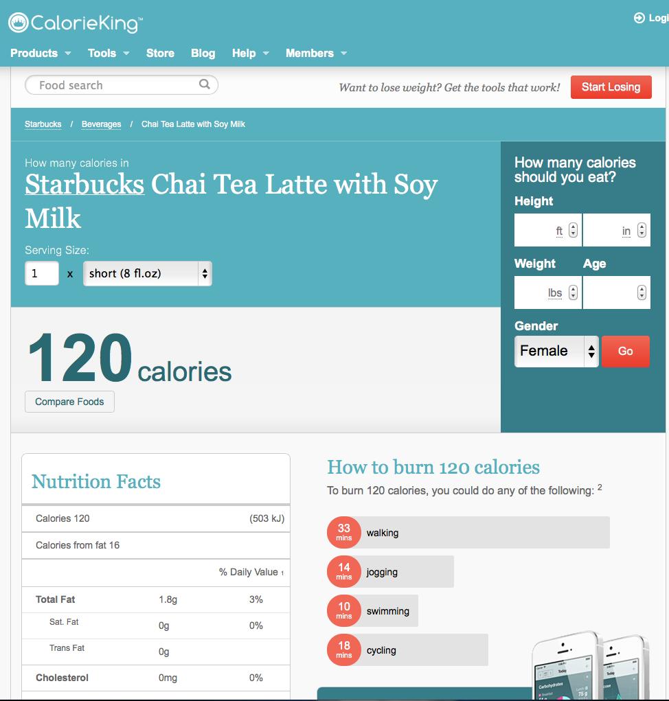 Surreal Body Solutions: CalorieKing.com