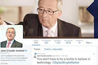 Perfil Twitter Juncker 2014
